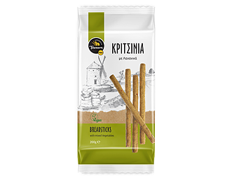 Breadsticks with mixed Vegetables packaging design